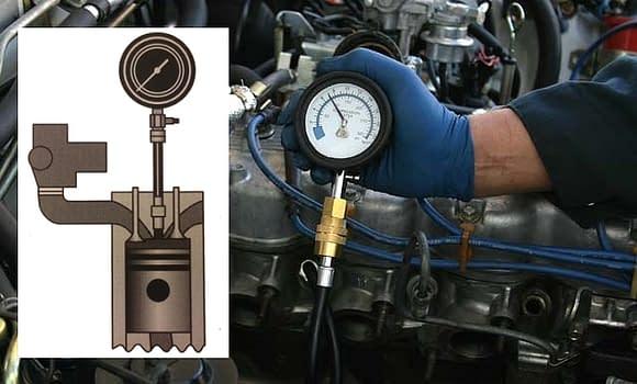 Kai sumažėja variklio kompresija